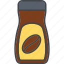 barista, beverage, coffee, drink, instant coffee, jar icon