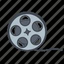 cinema, entertainment, film, media, movie, reel, spool