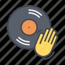 dj, entertainment, media, music, record, scratching, vinyl icon