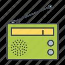audio, device, entertainment, media, portable, radio, receiver icon