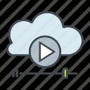 cloud, entertainment, media, multimedia, streaming, video