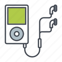 earphones, entertainment, media, mp3, music, player, portable icon