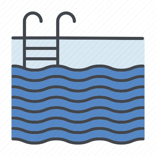 Home, property, real estate, realty, swimming pool, water icon - Download on Iconfinder