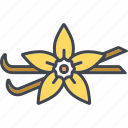 blossom, food, ingredients, pods, seasoning, spice, vanilla icon