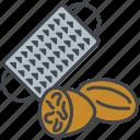 food, grater, ingredients, nutmeg, seasoning, spice icon