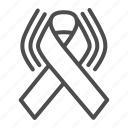 ribbon, lgbt, awareness, cancer, wave, decoration