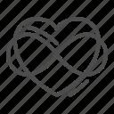 valentine, heart, love, eternity, shape, romantic