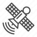 satellite, space, station, wave, signal, transmitter