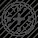 compass, navigation, travel, arrow, pointer, tool, direction