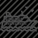 ship, travel, journey, wave, sea, vessel, cruise