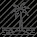 travel, island, tree, vacation, isle, palm, sand