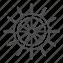 wheel, ship, boat, helm, sea, vessel, star