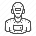 robot, machine, cyborg, human, avatar, man, slave
