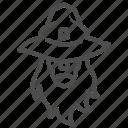 wizard, magic, wand, magician, beard, hat, weird