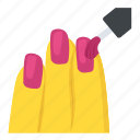 beauty, cosmetics, manicure, nail paint, nail polish icon