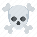 bones, danger, jolly roger, skull, toxic icon