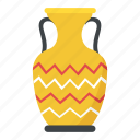 home decoration, house interior, urn, vase, vessel icon