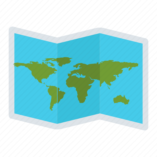 geography, location, map, travel, world map icon