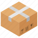 cardboard, carton, container, crate, sealed box icon