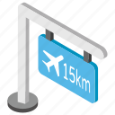 airport area, airport direction, airport guidepost, airport section, runway