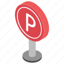 car parking, parking area, parking guide, parking place icon