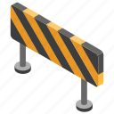 blockade, boundary, construction barrier, hurdle, traffic barrier icon