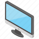 desktop computer, electronic device, isometric screen, output device, pc icon