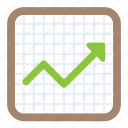 analytics, arrow graph, growth, increasing, statistics icon