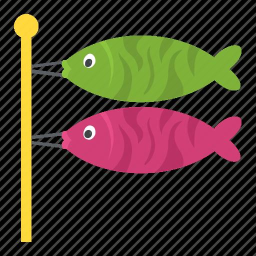 fish bait, fish hook, fishing, fishing rod, spinnerbait icon