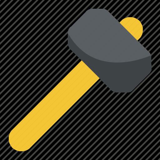 carpenter, hammer, sledge hammer, tools, woodwork icon
