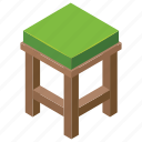 bar stool, comfortable stool, counter stool, settee, sitting stool