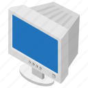 desktop computer, monitor, output device, screen, vintage computer icon
