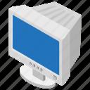 desktop computer, monitor, output device, screen, vintage computer