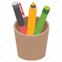 geometry, pencil box, pencil case, pencil pot, stationery icon