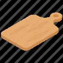 chopping board, chopping tool, cutting board, kitchen utensil, professional cutting board icon