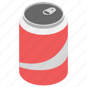 carbonated drink, cola tin, drink, soft drink, sweetened drink icon