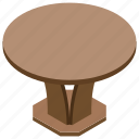 counter, desk, dinner table, furniture, table icon