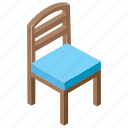 chair, comfortable chair, settee, sitting, sitting stool icon