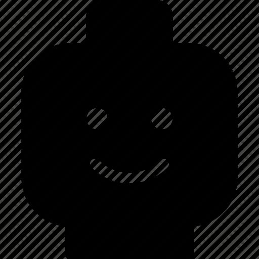 expression, face, head, lego, smile icon