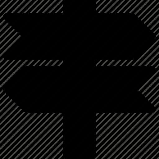 arrow, move, post, road, sign icon