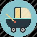 baby stroller, buggy, carriage, pushchair, stroller, transport, wicker pram icon