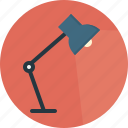 electric, floating arm, foldable, lamp, portable, spotlight, study icon