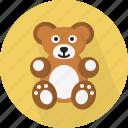 bear, childhood, fun, soft, stuffed, teddy, toy