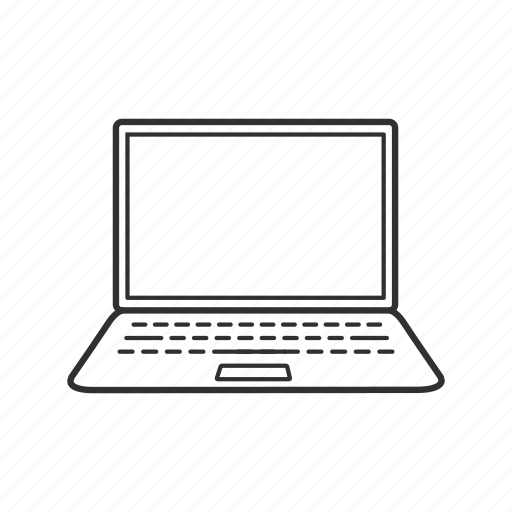 computer, laptop, macbook, personal computer, personal laptop, technology icon