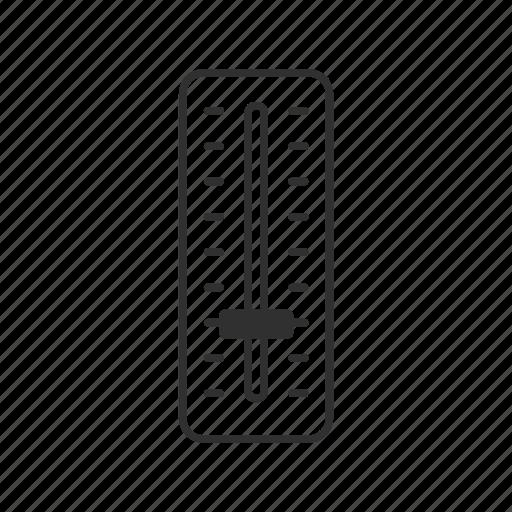level, level slider, meter, slider, thermometer, volume, volume slider icon