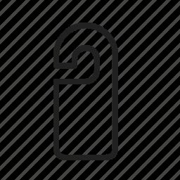 disturb, door, handle, hanger, hangers, hotel, sign icon