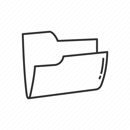 archive, document, file, file folder, files, folder, open folder icon