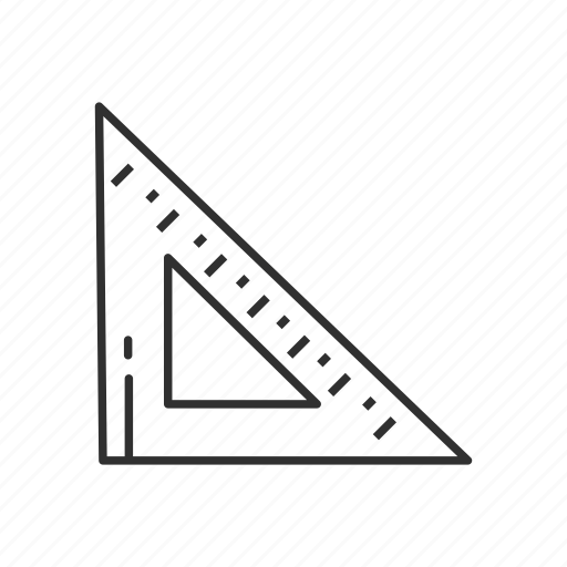 construction, design, ruler, tool, triangle, triangle ruler icon