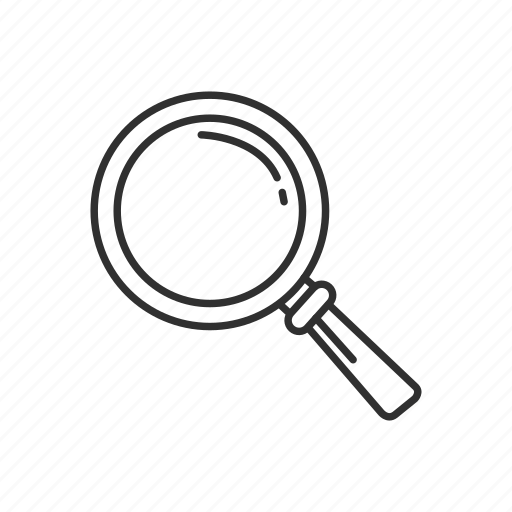 find, glass, magnifying glass, search, tool, view, zoom icon