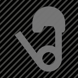 pin, safety pin icon